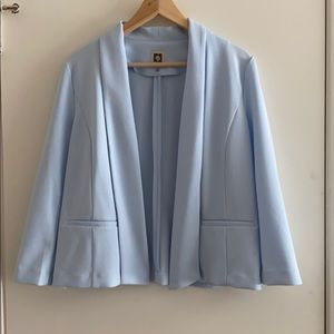 anne klein open blazer,light blue ,M